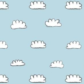 clouds + blue skies / nursery baby kids simple design