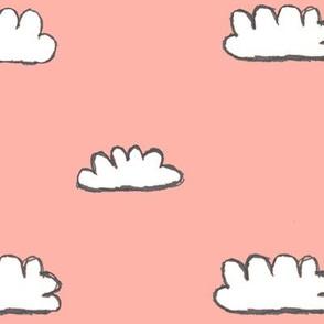 clouds + coral skies / nursery baby kids simple design