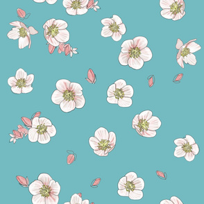 Floral Turquoise