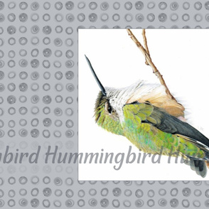 Tea Towel Hummingbird