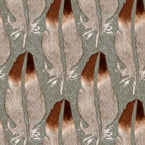 19-01G Bird Feather on Taupe _ Miss Chiff Designs