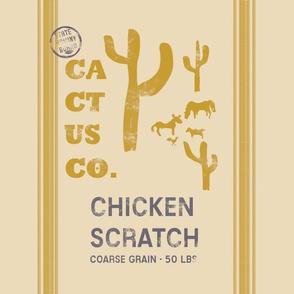 "Saguaro Grain Sack 18"" Pillow Panel | Bee Dance"