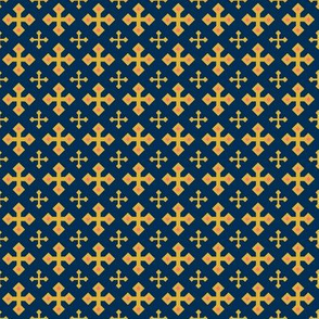 Gold Crosses on Blue 1