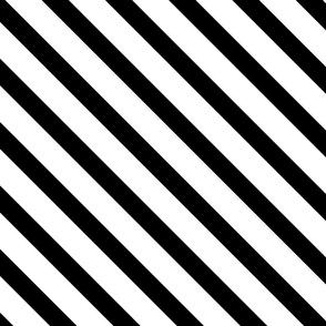 Diagonal Stripes Black and White