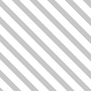 Diagonal Stripes Gray