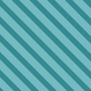 Diagonal Stripes Aqua