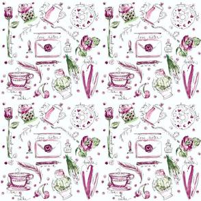 Love note pattern 16 inch