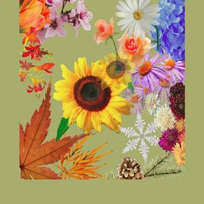 Floral-tea-towel-no-calender-green