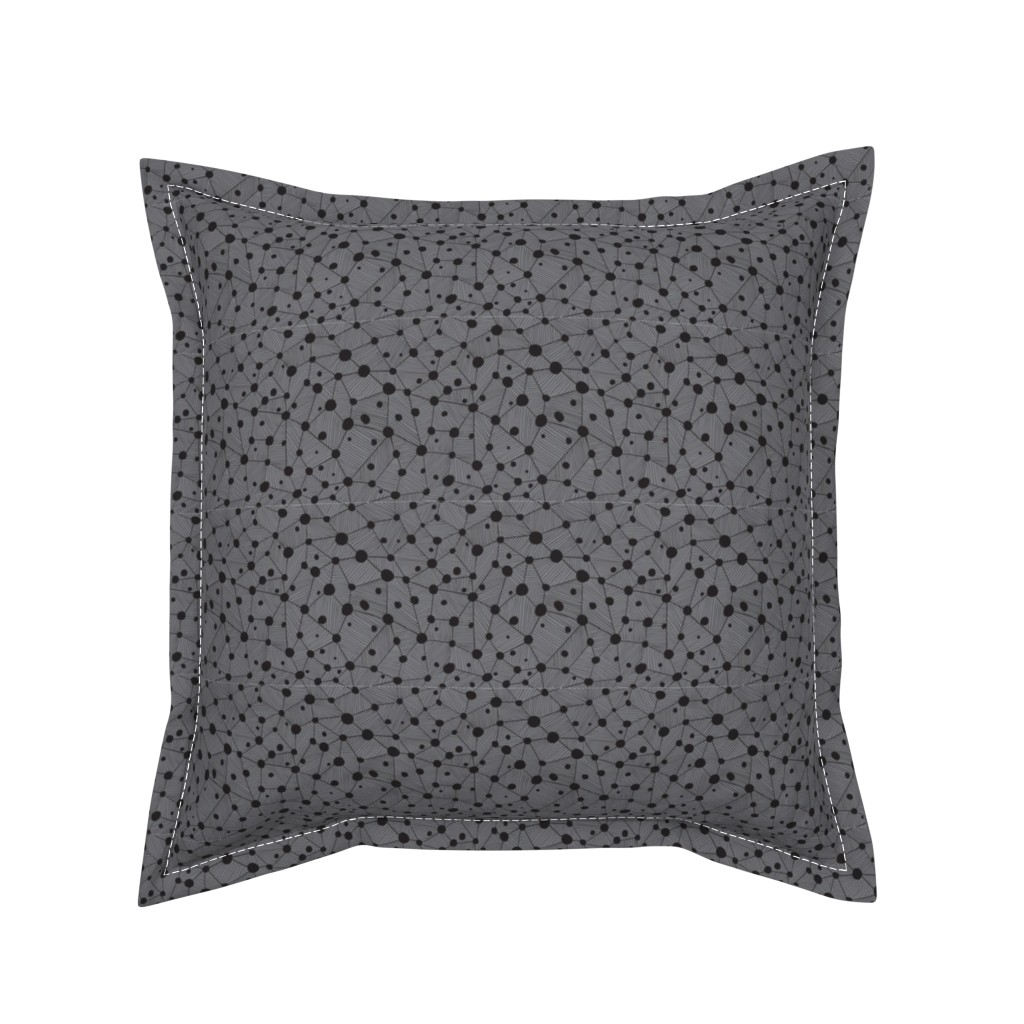 Serama Throw Pillow featuring Dots & lines by doodlena