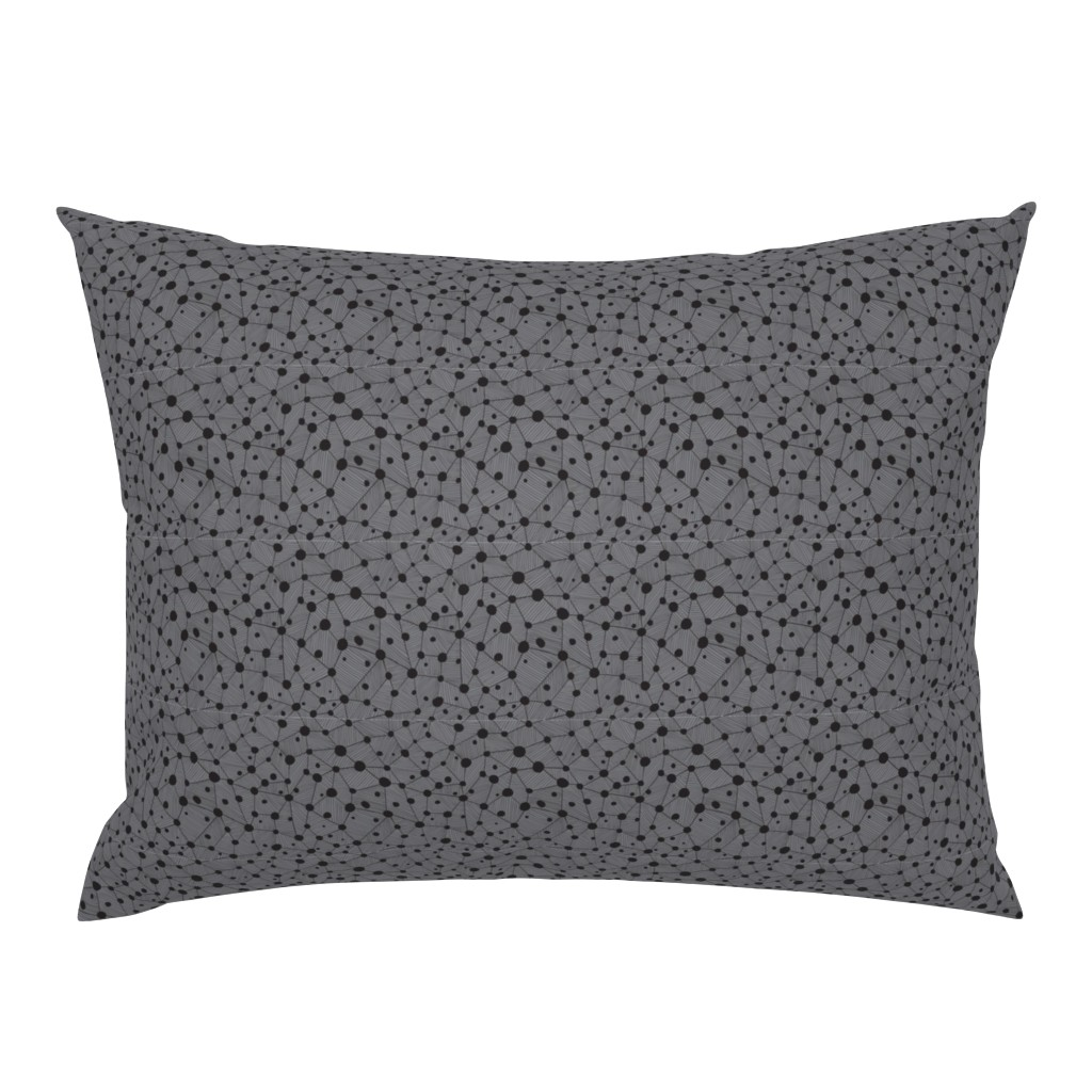 Campine Pillow Sham featuring Dots & lines by doodlena