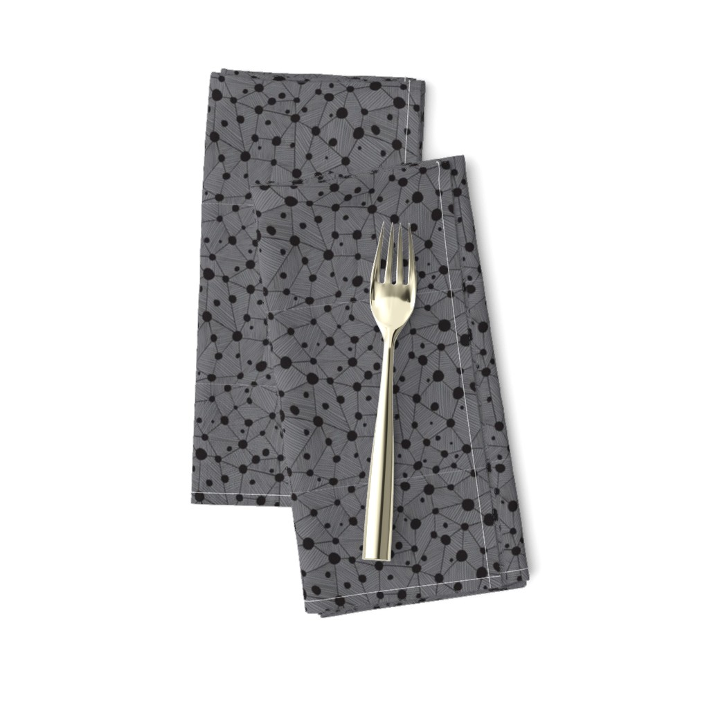 Amarela Dinner Napkins featuring Dots & lines by doodlena