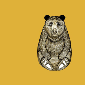 Panel Bear Yellow