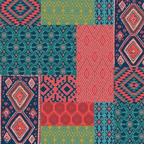 ikat room patchwork