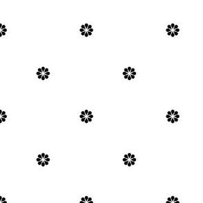 ART DECO Ditsy Pattern *black on white