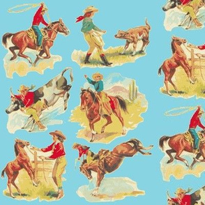 Cowgirl  Cowboy western Rodeo  Turquoise