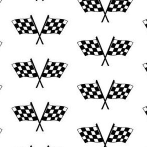 Checkered Black and White Race Flags