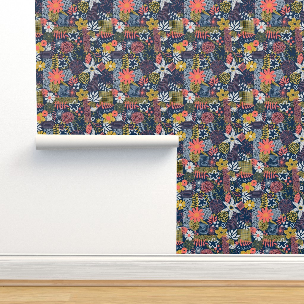 Isobar Durable Wallpaper featuring Organic Flower Mix by diseminger