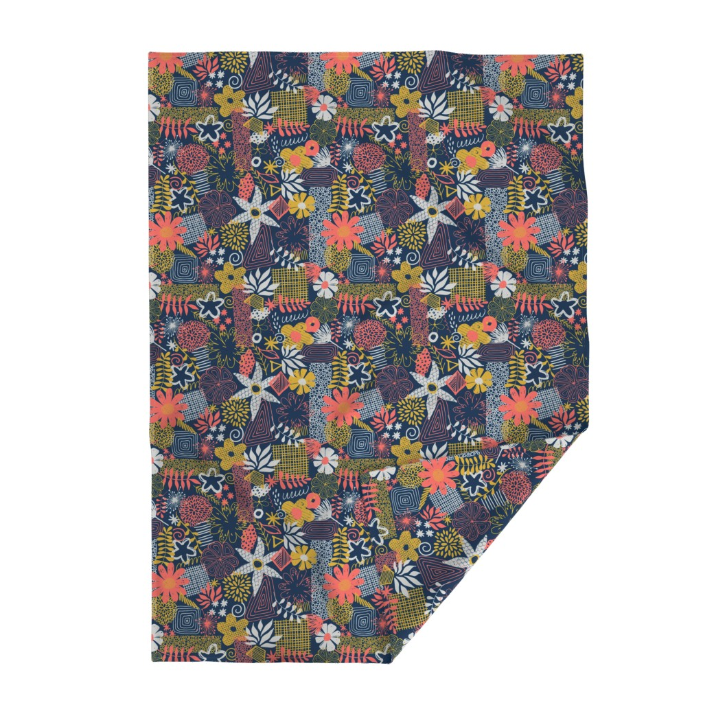 Lakenvelder Throw Blanket featuring Organic Flower Mix by diseminger