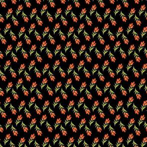 Orange Buds in a Row