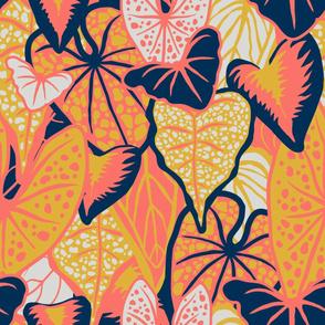 Tropical Foliage (large) - Limited Palette