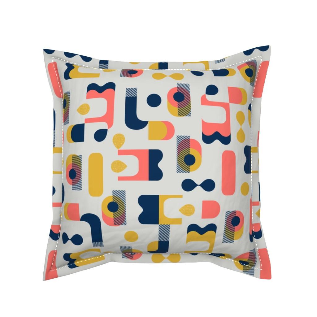 Serama Throw Pillow featuring No Matter What Shape by ottomanbrim