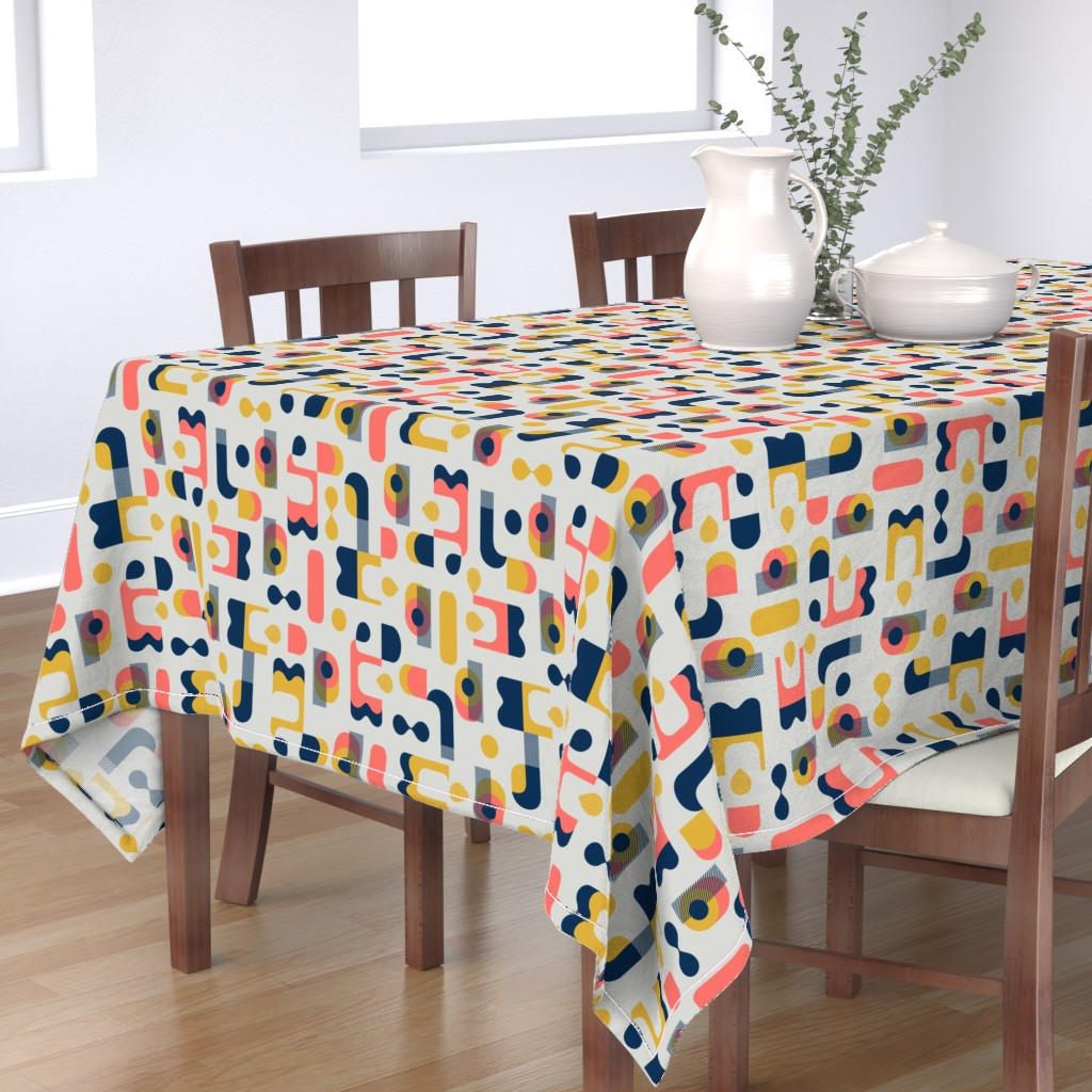 Bantam Rectangular Tablecloth featuring No Matter What Shape by ottomanbrim