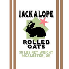 "Jackalope Oats 18"" Pillow Panel | Vintage Vacation"