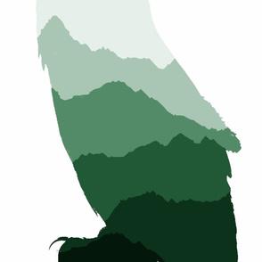 owl silhouette2 panel
