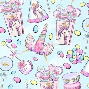 Unicorn Birthday Party aqua