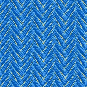 herringbone fresh blue and yellow