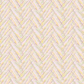 herringbone yellow and lavender