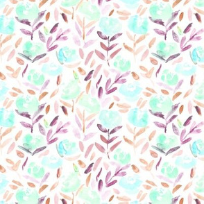Tender pretty flowers in   || watercolor florals