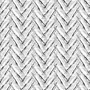 herringbone silver threads