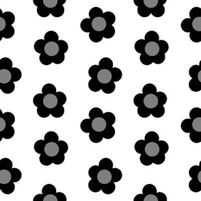 Dotty Blooms Greyscale 1:1