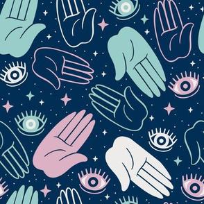 Evil Eye Hands - Pastel