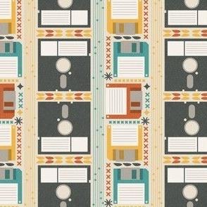 Retro Computer Floppy Disk Pattern