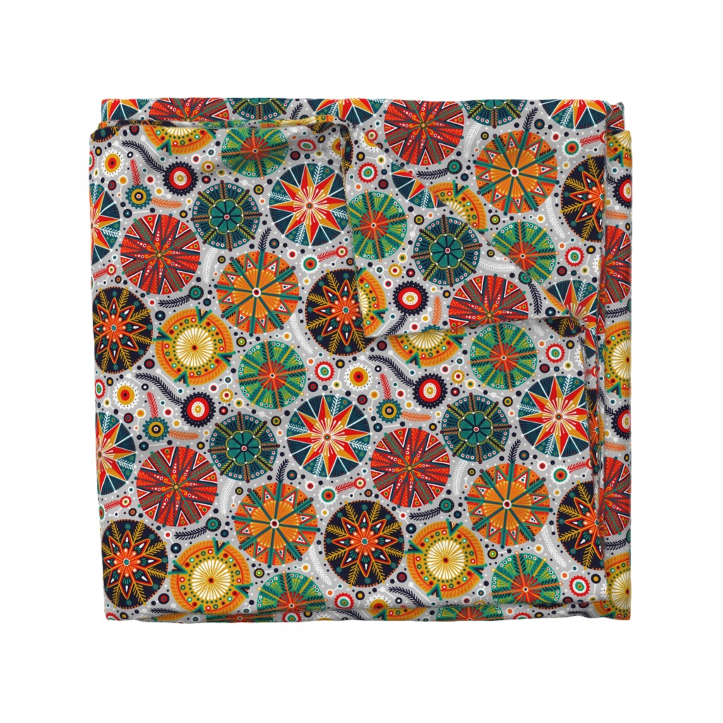 Wyandotte Duvet Cover featuring Pysanky by julia_gosteva
