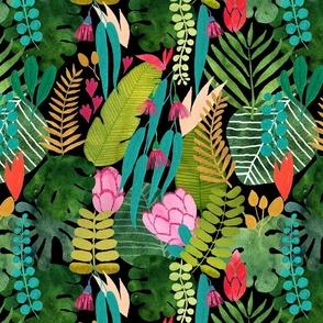 tropical paradise on black