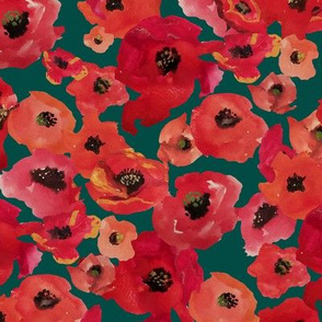 RED POPPIES CAMO
