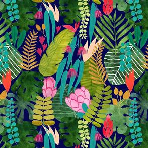 tropical paradise blue