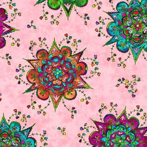 Flower Mandala Pattern soft pink