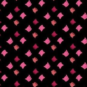 Pink Pussyhats on Black