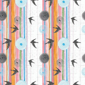 Coloured stripes and swifts