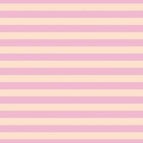 Magnolia Light Pink and Apricot Horizontal Stripes