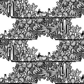 Chai and Cacti (sm bw)