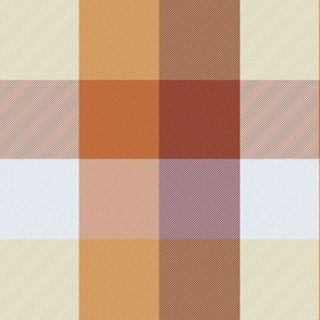 """simple 2"""" madras - custom red, brown and white"""