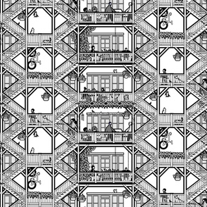 chicago balconies (lg bw)