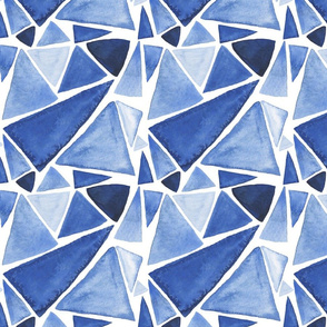 Blue Triangle Mosaic