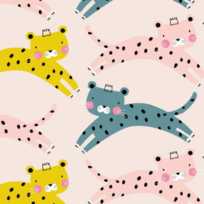 Cheetah Leopard animal print kids (large)