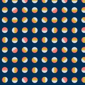 Striped dots-navy